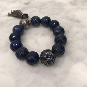 Sapphire and Lapis Bracelet Size S